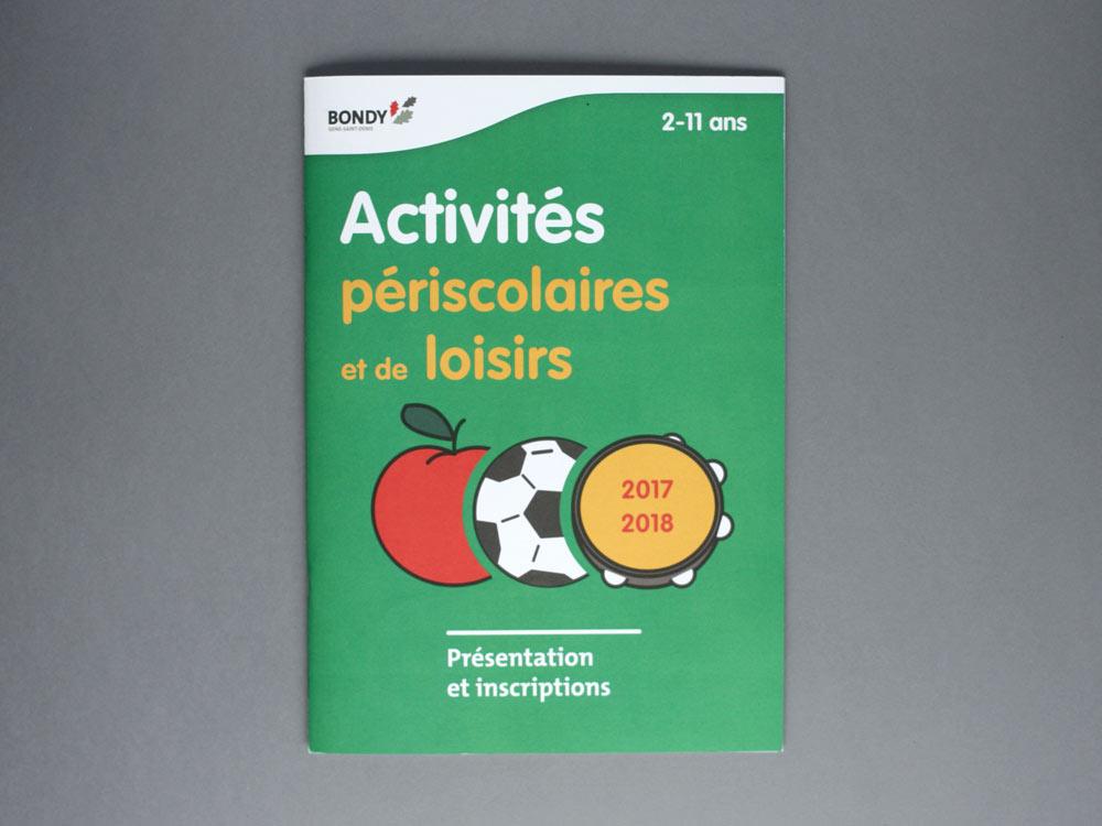 Livret d'inscription aux activités périscolaire - couverture