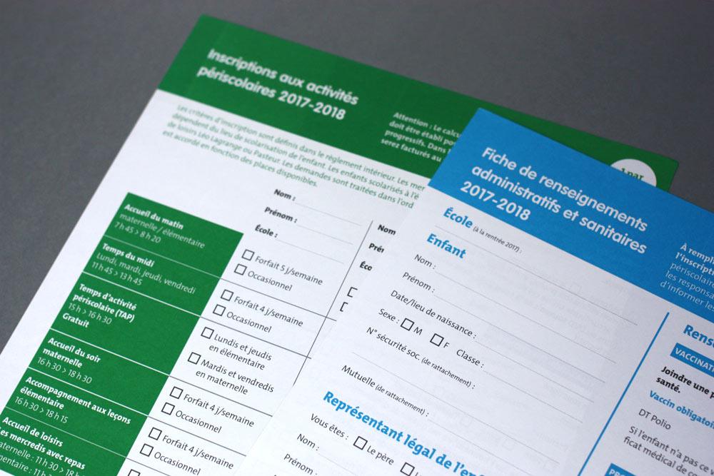 Formulaires d'inscription aux activités périscolaires