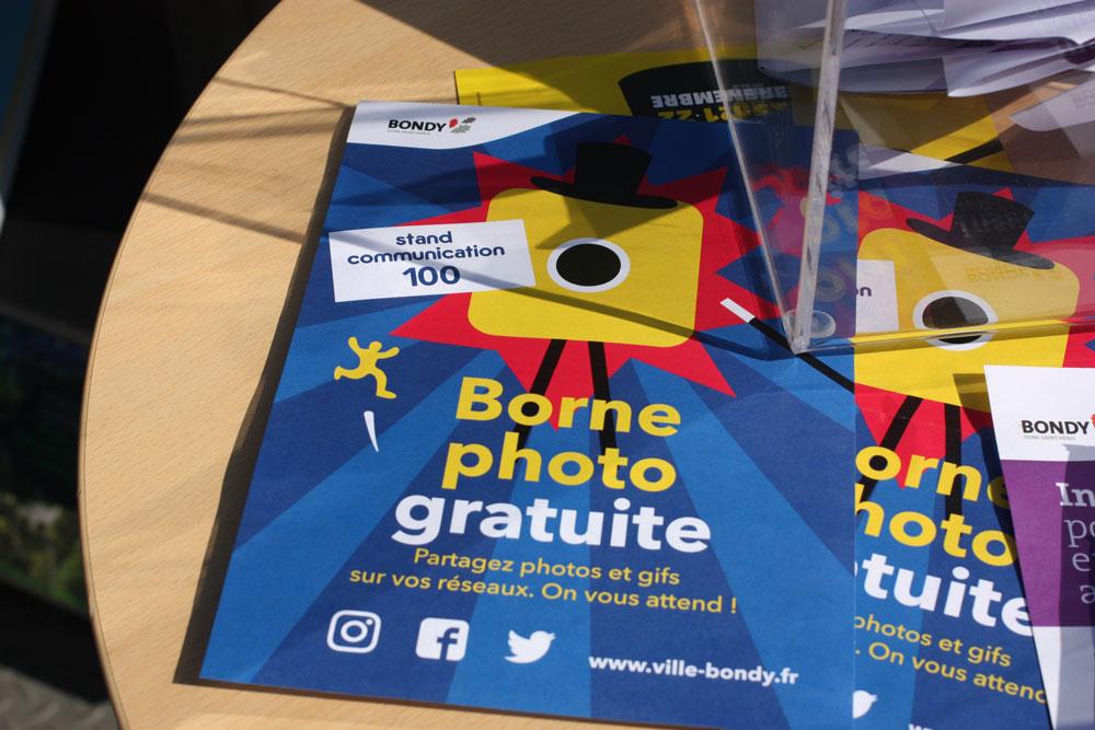 Flyer pour la cabine photographique des Bondyssants 2019