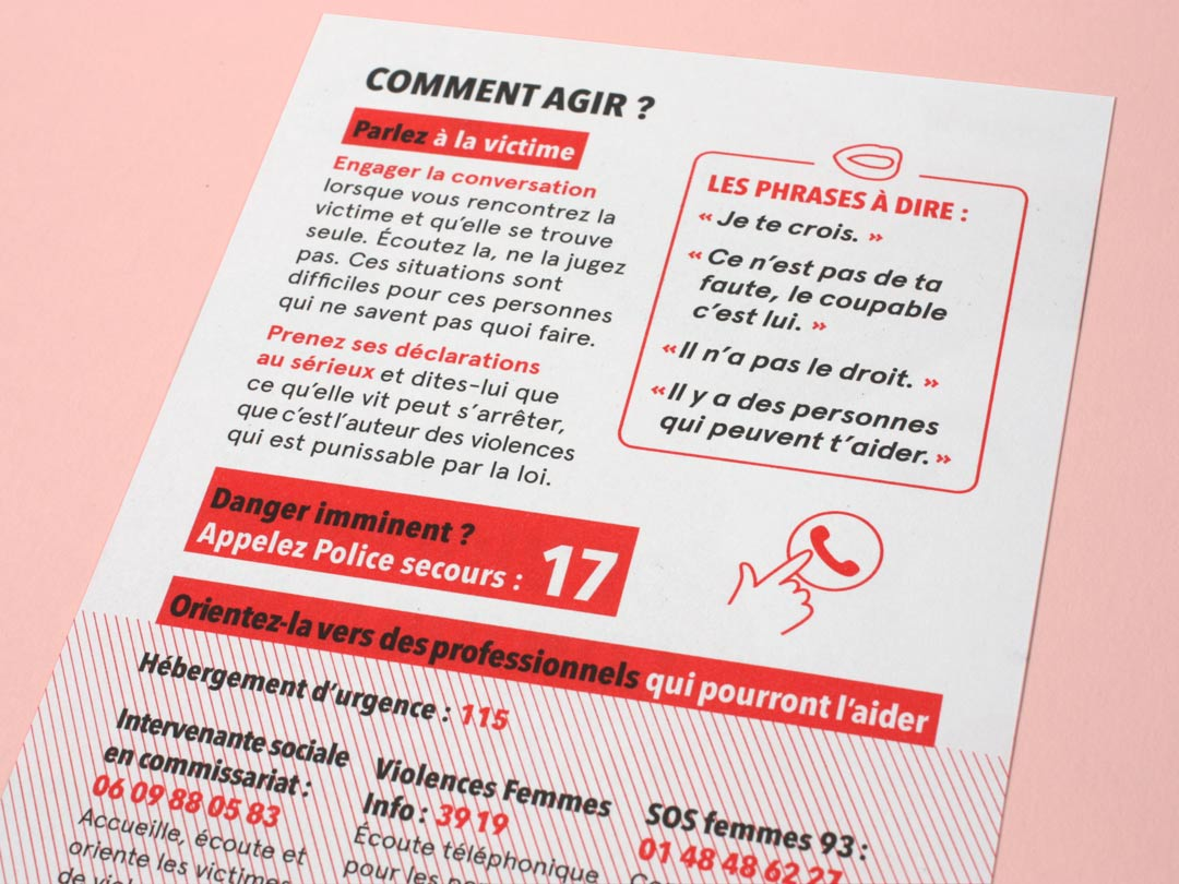 Flyer sur les violences conjugales - verso