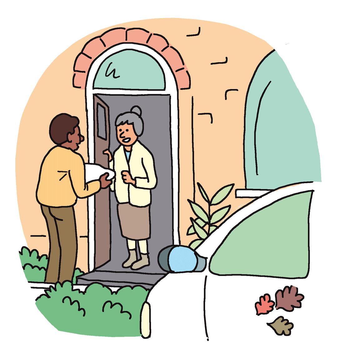 Livraison de repas à domicile - illustration