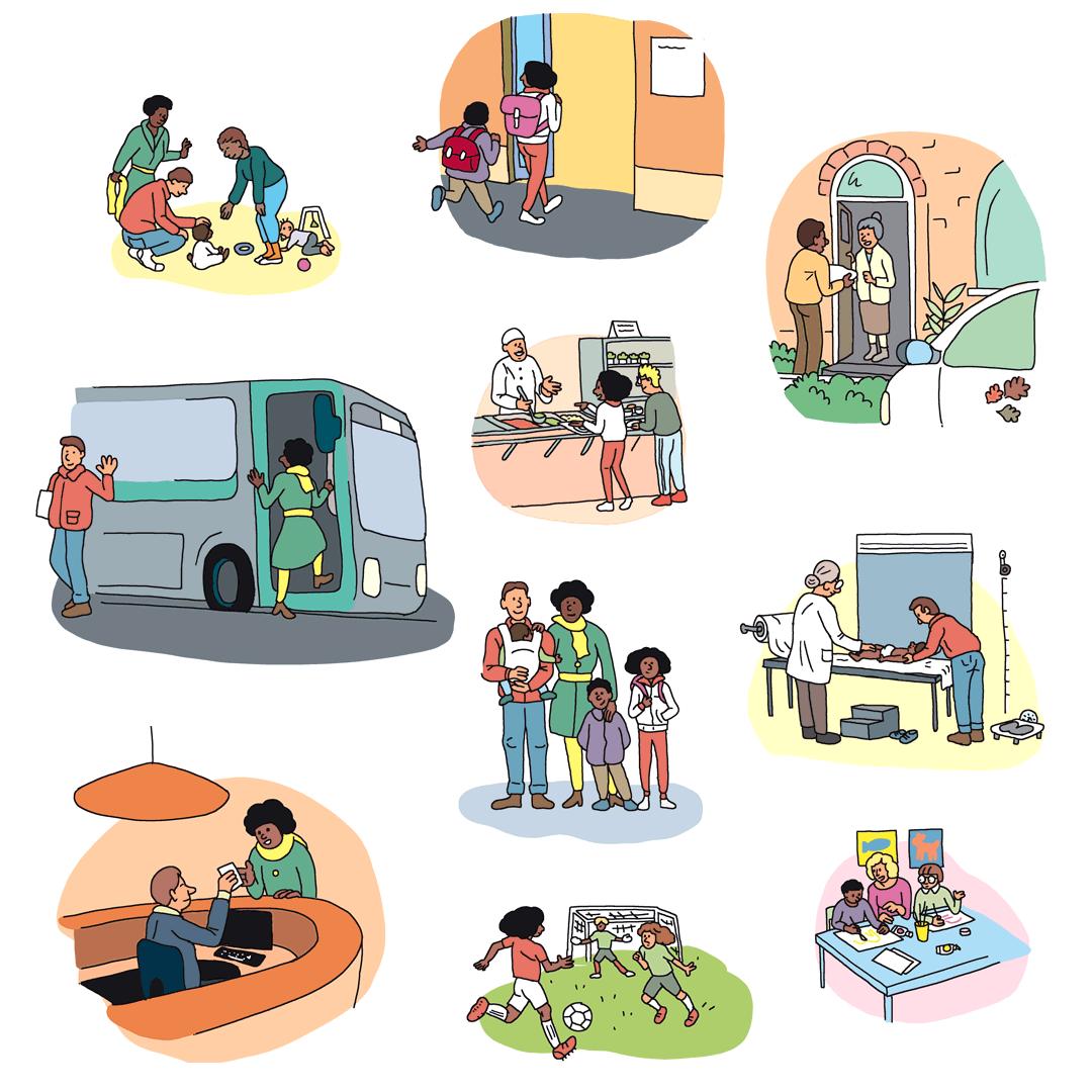 24h dans la vie d'une famille Bondynoise - illustrations