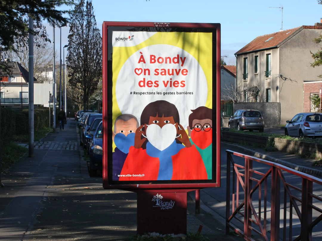 Campagne d'affichage masque covid