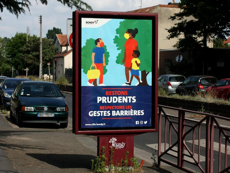 Affiche déconfinement COVID 19 - Restons prudents