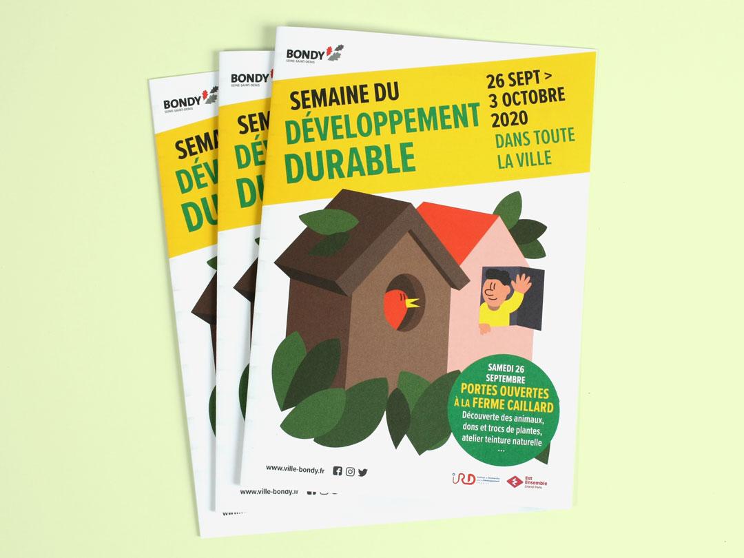 Dépliant Semaine du développement durable - couverture
