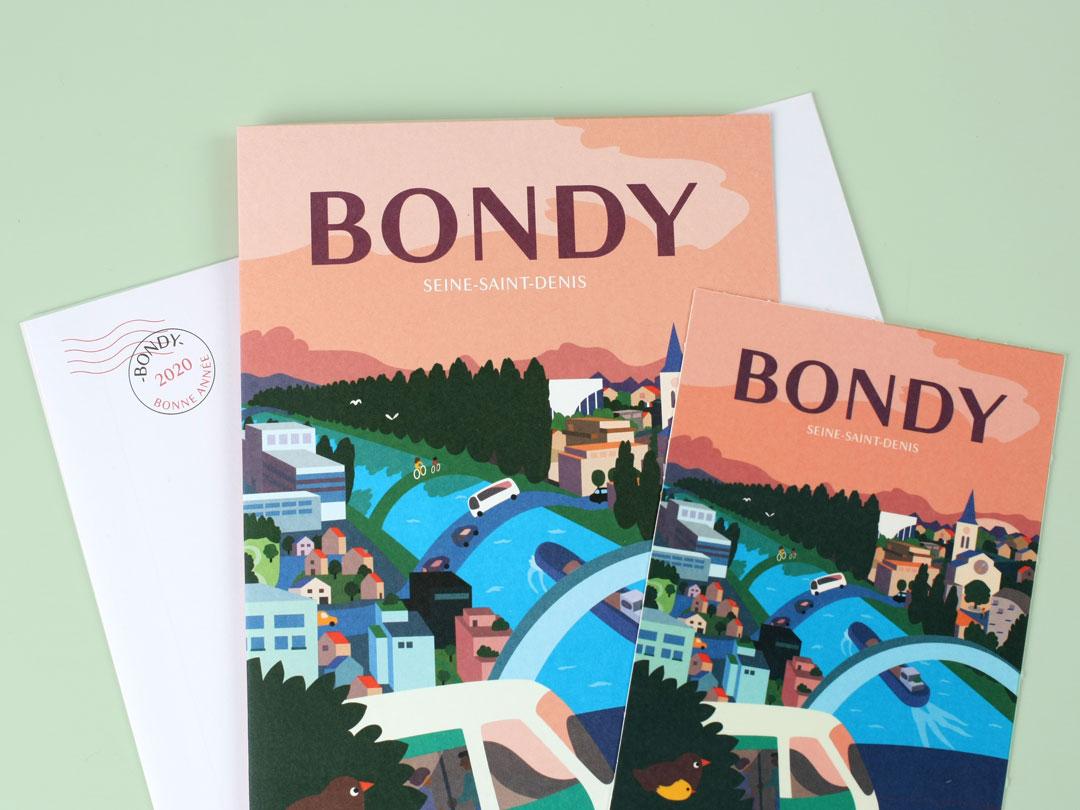 Carte de voeux 2020 de la Ville de Bondy